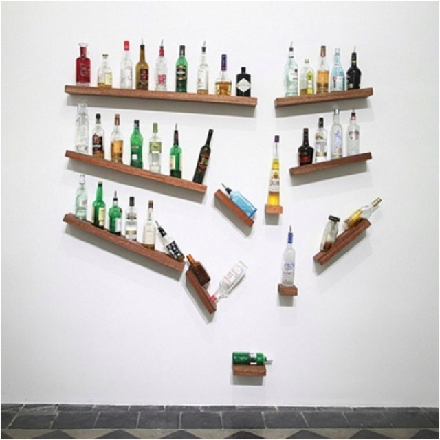 1000 images about whiskey shelf ideas on pinterest for Wine bottle shelf diy