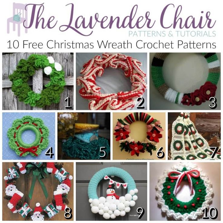 Tis' the holiday season as soon as the first wreath is hung! This year my door will be sporting one of these free Christmas wreath crochet patterns.