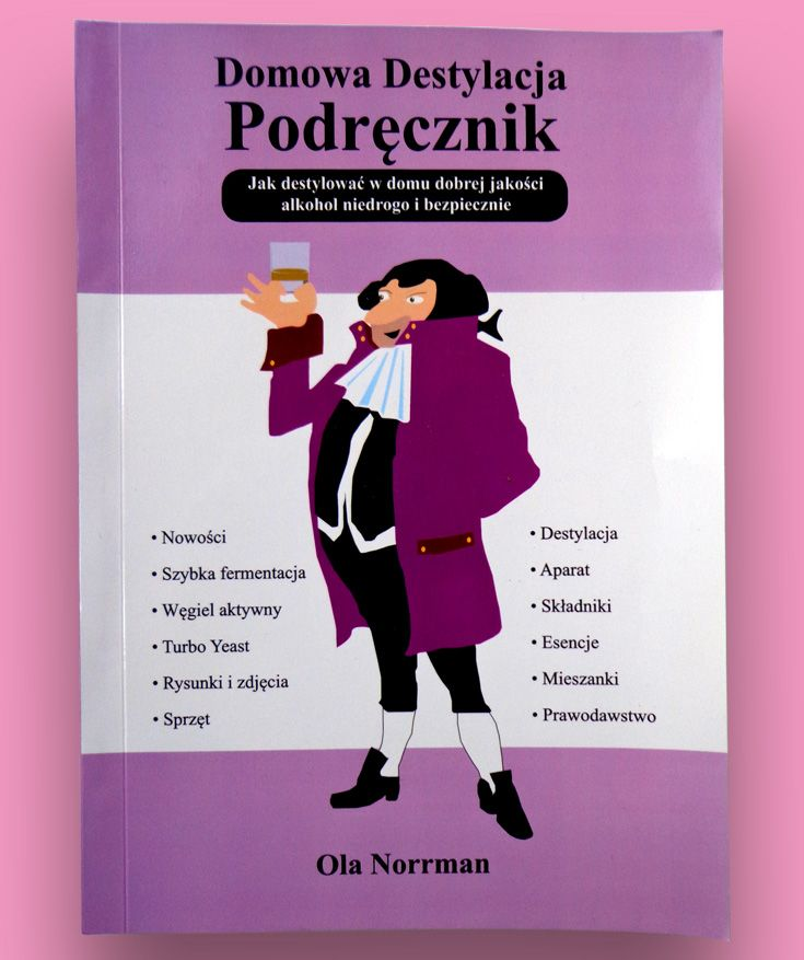 The Home distillation handbook in Polish. All about home distillation with detailed explanations, drafts and information from distilling guru Ola Norrman.