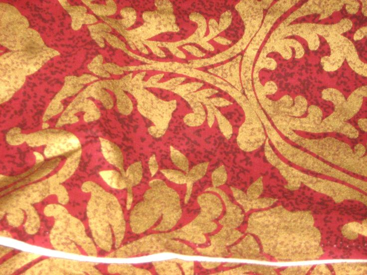 HEAVY #COTTON #Fabric Gold Leaf Motif Stamped on Red Background - 60 inches wide, 4 yards available By the Yard by RoseAltheasNook on Etsy #BTY