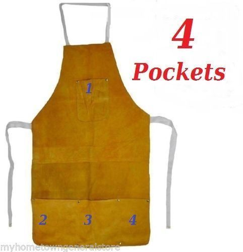 Split-Leather-Welding-Apron-Protective-Clothing-Carpenter-Blacksmith-Gardening