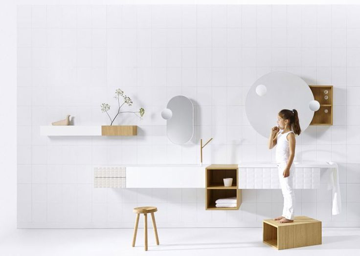 """This modular range was designed to let users create """"a bathroom that does not look like a bathroom""""."""