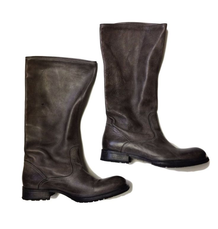 N.D.C. NDC Grey Handcrafted Womens Leather Ankle Boots Shoes - SZ 36 5.5 #NDC #AnkleBoots