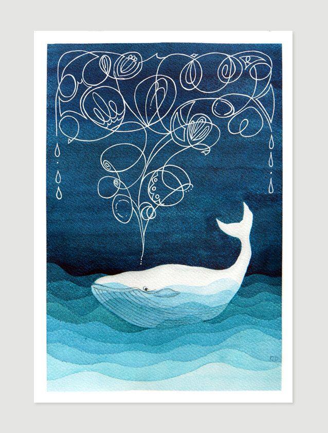 Baleine art impression jet d'encre nautique wall Decor peinture aquarelle pépinière art enfants illustration par VApinx par VApinx sur Etsy https://www.etsy.com/ca-fr/listing/226157954/baleine-art-impression-jet-dencre