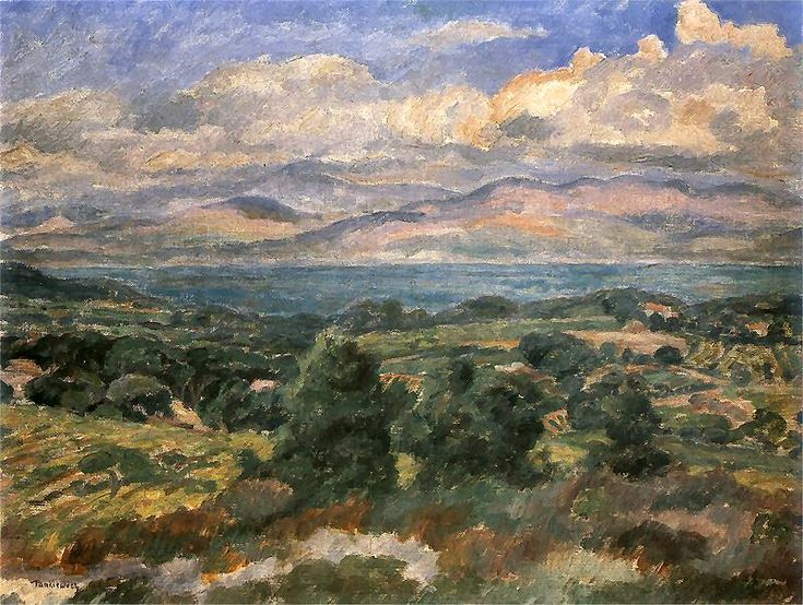 The Athenaeum - Landscape in the South of France. (Jozef Pankiewicz - )