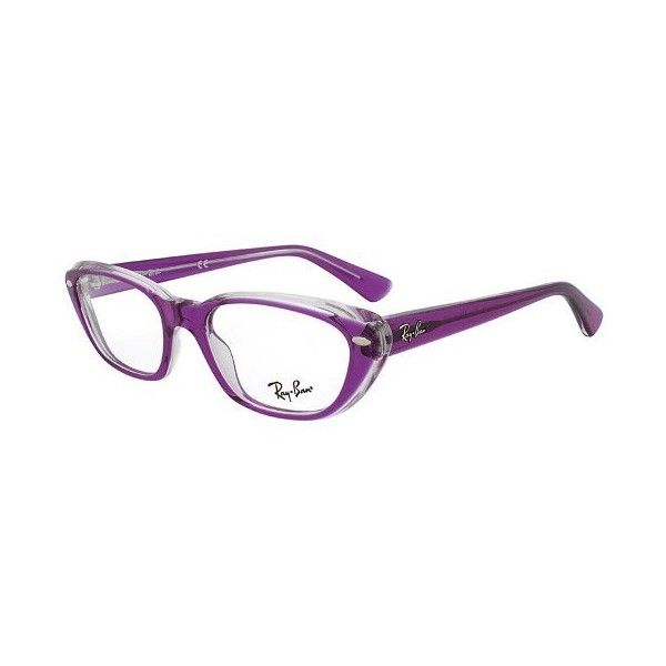 Ray-Ban RX 5242 5254 Rectangular Eyeglass Frames | Purple Frame | Size... ($89) ❤ liked on Polyvore featuring accessories, eyewear, eyeglasses, ray ban eye glasses, ray ban eyeglasses, retro clear glasses, rectangular eyeglasses and clear eye glasses