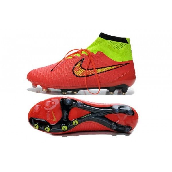 Nike Magista Obra FG Cool Soccer Cleats- Red Green