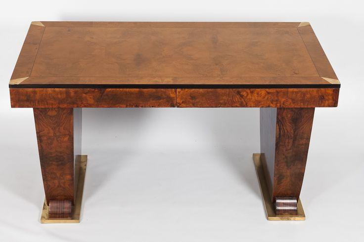 Art Deco Walnut Desk
