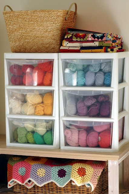 should get some of these for yarn storage by color, pull the drawers out during class and put them away when done!