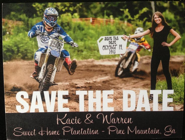 "Motocross ""Save the Dates!"" Love this!!! Will totally do it"