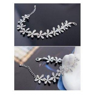 Set bijuterii cu Swarovski Exquisite Flowers