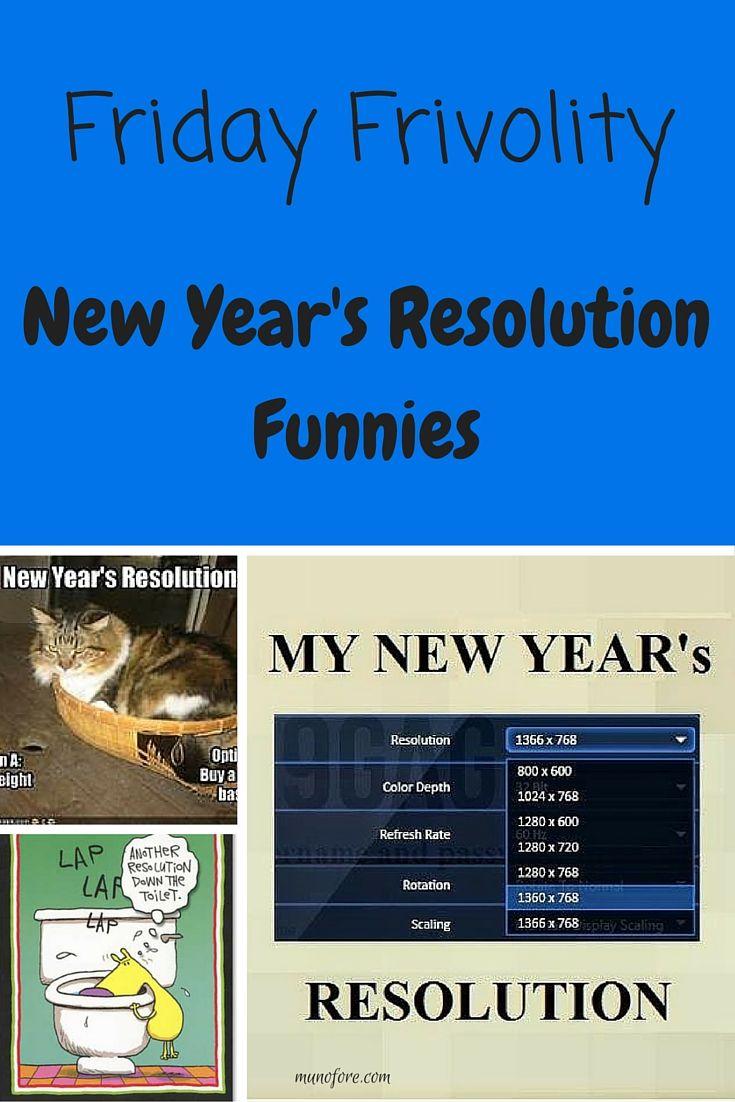 Friday Frivolity - New Year's Resolution Funnies