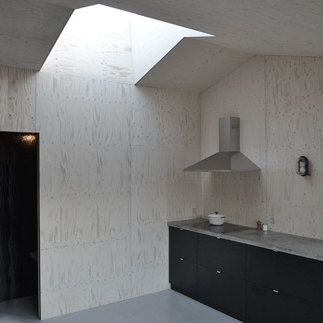 Ask Anker Aistrup - Own House - Skylight - Plywood - Kitchen