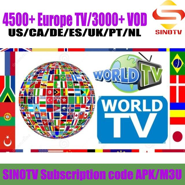 1 Year SINOTV Full HD 4K European TV Channels Arabic French