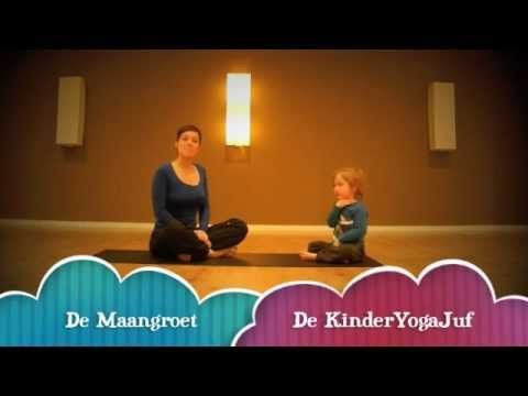 ▶ De KinderYogaJuf - De Maangroet - YouTube