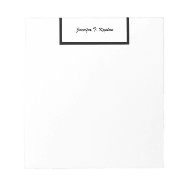 Calligraphy Professional Modern Minimalist Plain Notepad