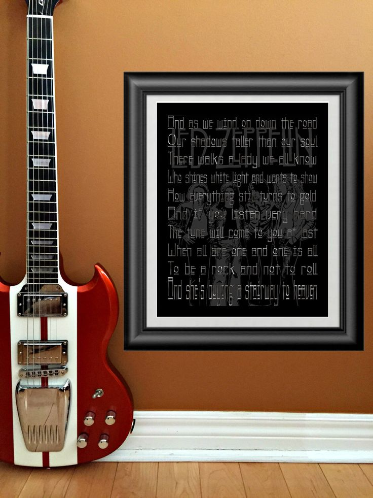 Stairway To Heaven by Led Zeppelin Printable wall art Instant Download by PrintableSongParts on Etsy https://www.etsy.com/listing/221484599/stairway-to-heaven-by-led-zeppelin