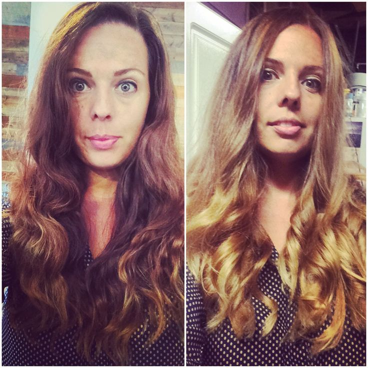 From brown to bronde and ombré tips.