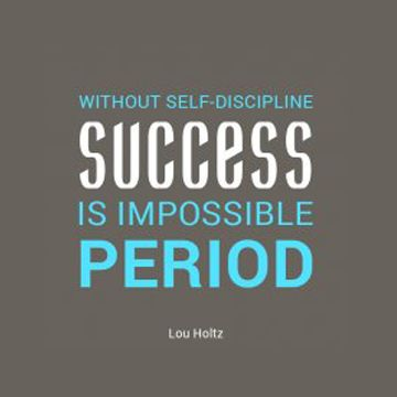 Take the path of success with self-discipline. ✊