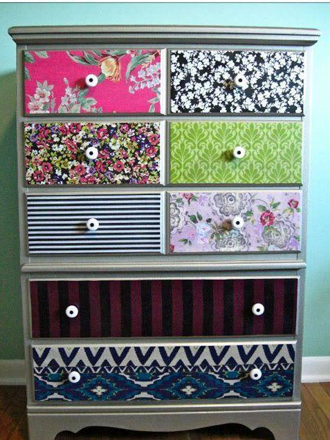 Con telas e imaginación se pueden rediseñar muebles, paredes y decorar distintos objetos para la casa....
