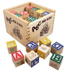 Juguete educativo de madera, 48 cubos para preescolares
