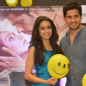"Shraddha Kapoor along with co-star Siddharth Malhotra promotes their upcoming movie ""Ek Villain"""