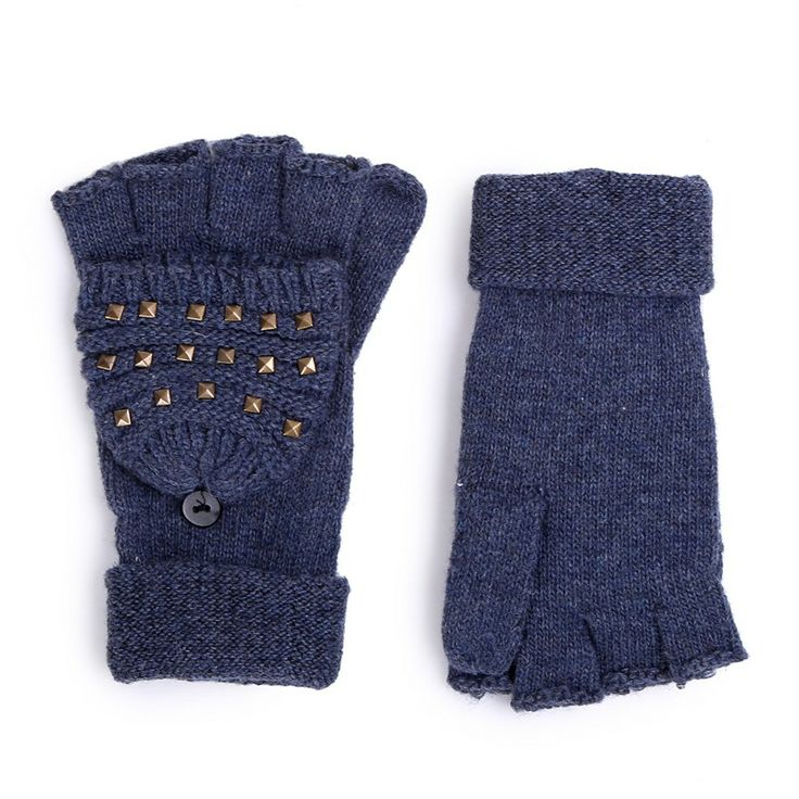 Autumn/Winter 2014 | FULLAHSUGAH FINGERLESS STUD KNIT GLOVES | €9.90 | 4460100730 | http://fullahsugah.gr