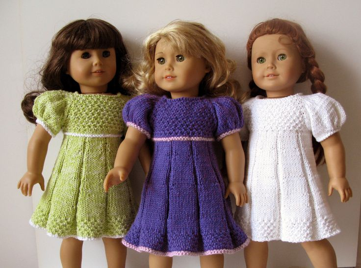 knitted American Girl 18 inch doll Pleated summer by KNITnPLAY, $2.99