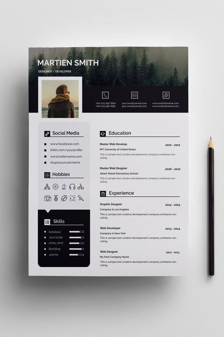 26 Classic Resume Template Clean Cool In 2020 Graphic Design Resume Resume Design Resume Design Creative