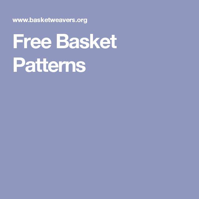 Free Basket Patterns