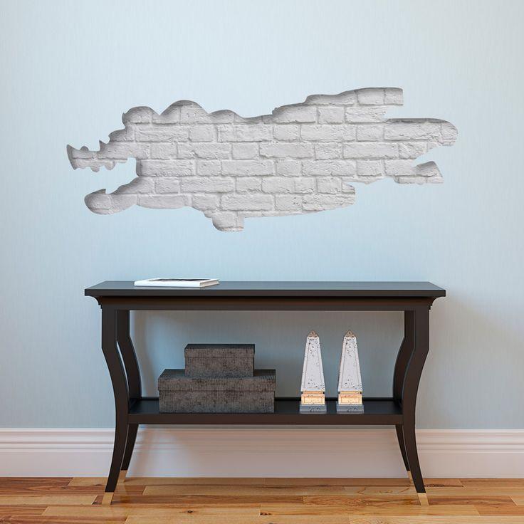 Naklejka na ścianę 3D z motywem cegły - nowoczesny wzór w stylu skandynawskim. Zobacz także więcej kolorowych naklejek z motywem cegły na bimago!