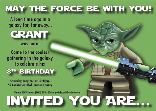 Free Printable Lego Star Wars Invitations 2017