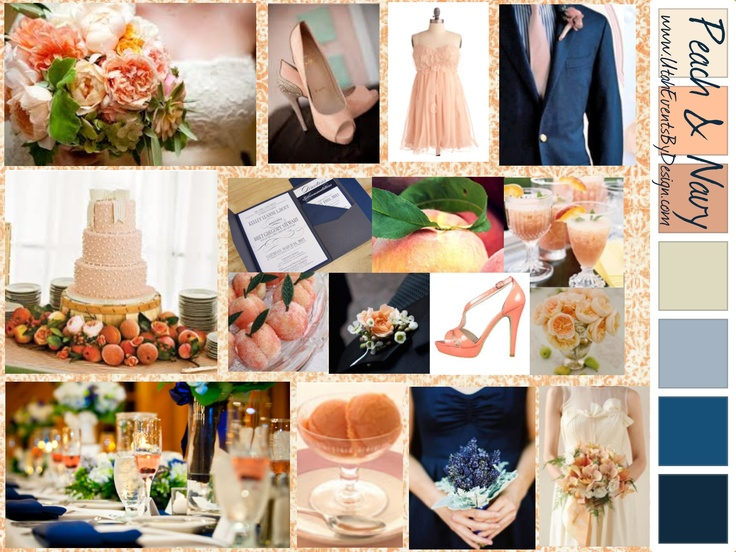 Navy & Peach wedding inspiration by Utah Events by Design