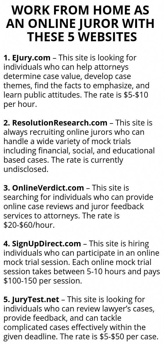 WORK FROM HOME AS AN ONLINE JUROR WITH THESE 5 WEB…