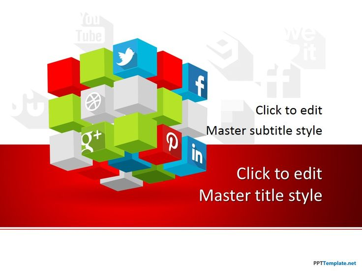 11 best social media ppt templates images on pinterest plants free social cube ppt template inspired by the rubiks cube is a free powerpoint theme showing how different social platforms are interconnected toneelgroepblik Image collections