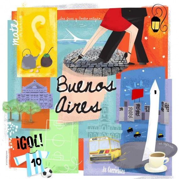 Risultati immagini per illustration argentina