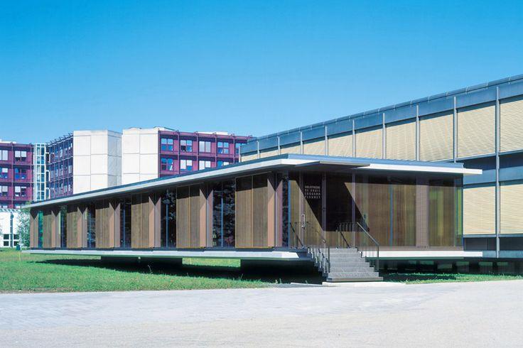 Patrick Devanthery &Ines Lamunière, Pavillon bibliothèque Edouard Fleuret, site Dorigny, 1999-2000