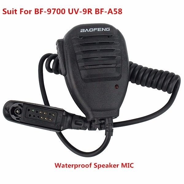Baofeng Microphone Handheld Speaker Mic For Baofeng A58 Bf 9700 Uv 9r Waterproof Walkie Talkie Wish Waterproof Speaker Walkie Talkie Two Way Radio
