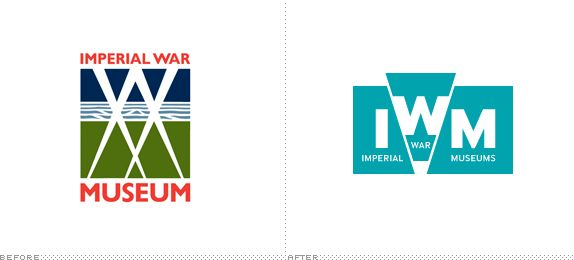 Imperial War Museums Logo, Before and After