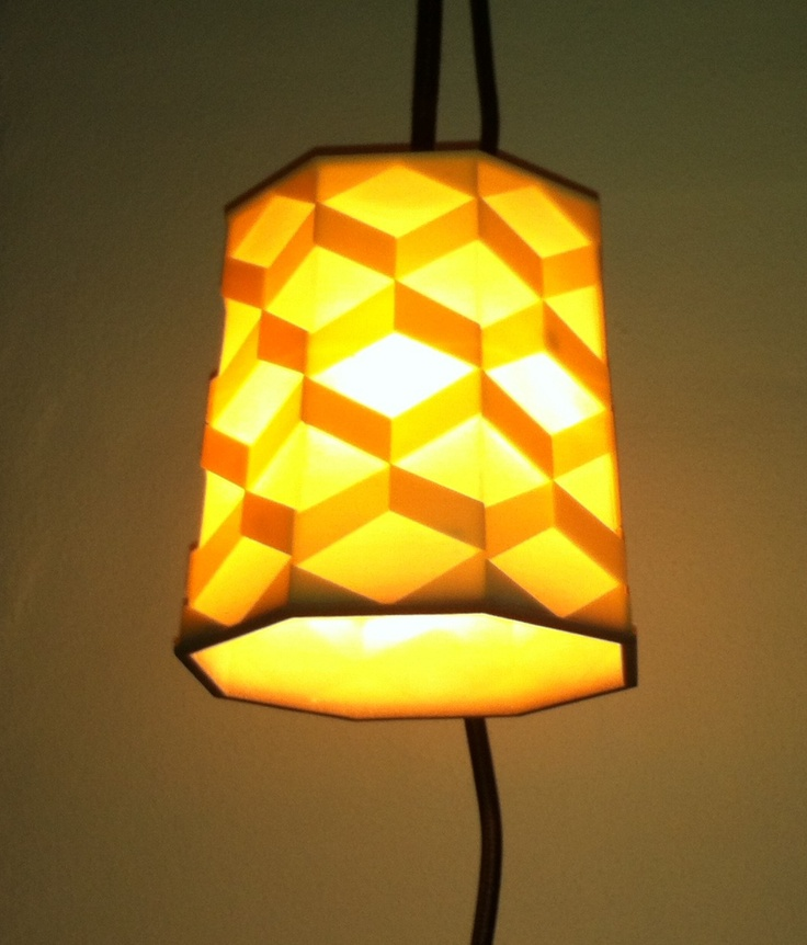 Lampshade.  Drawn in Rhino and 3d printet.  Materal: Plaster