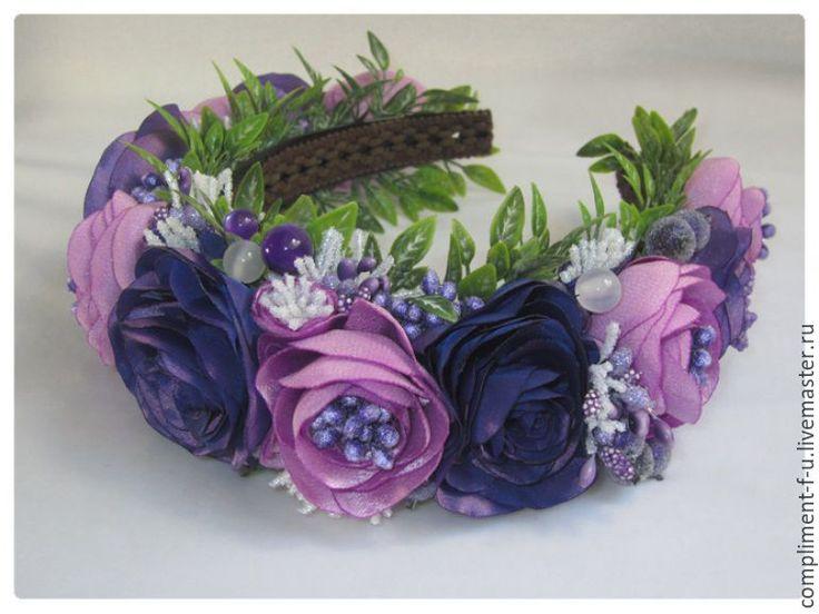 Купить Венок весенний - сиреневый, венок, венок из цветов, венок на голову, венок с цветами