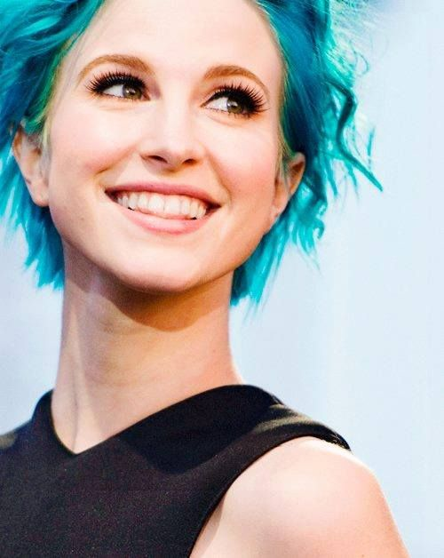 Hayley Williams With Blue Hair Hairstyle Pinterest