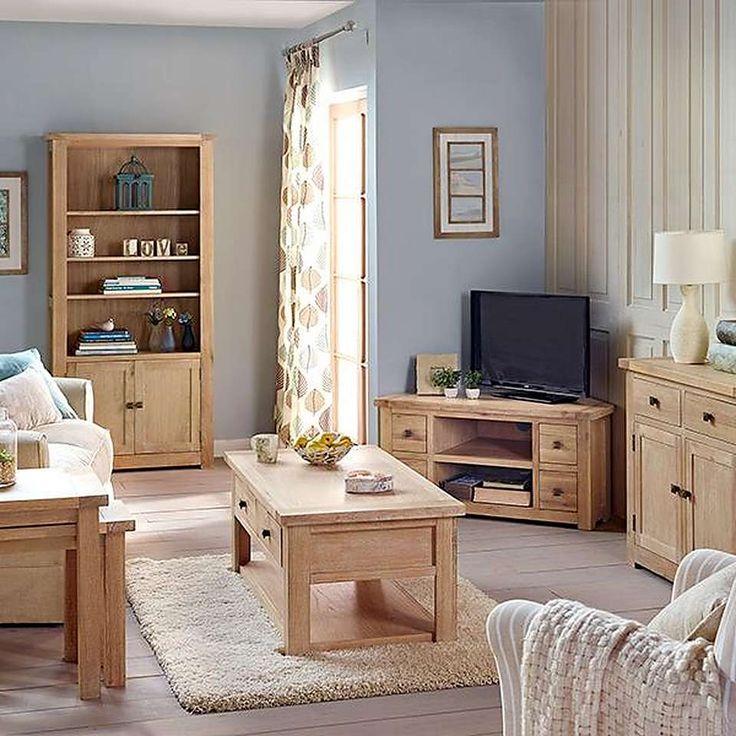 Henley Washed Oak Living Room Furniture Collection   Dunelm