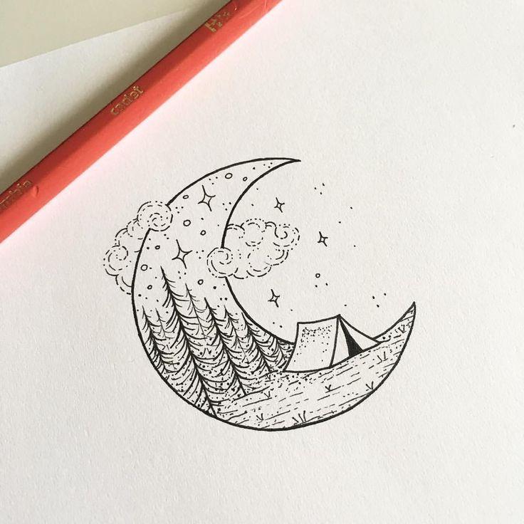 "1,328 Likes, 15 Comments - Peta-Jane Heffernan (@peta.heffernan) on Instagram: ""Happy Friday  DM to claim design #moon #tattoo #drawing #illustration #smalltattoo #tattoodesign…"""