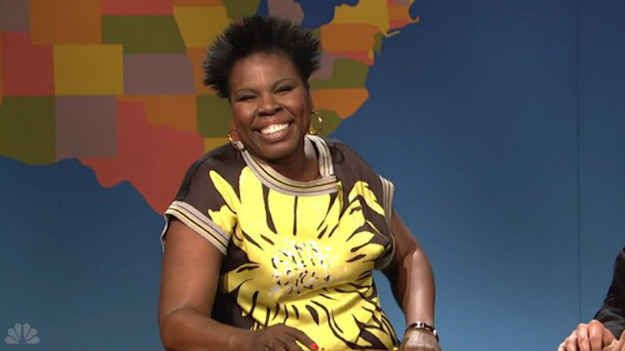 """During May 3's episode of Saturday Night Live , writer and comedian Leslie Jones appeared as an image expert on the show's """"Weekend Update"""" skit . 