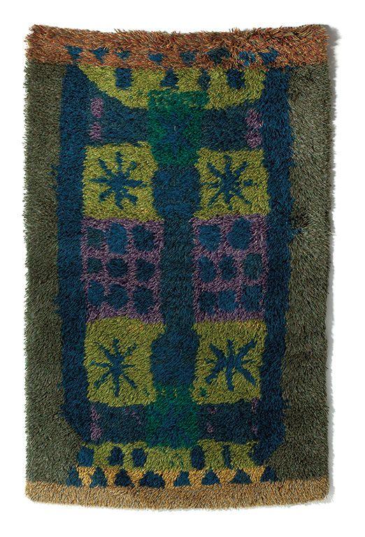 Arne Lindass; Wool 'Markblomst' Rug, 1965.