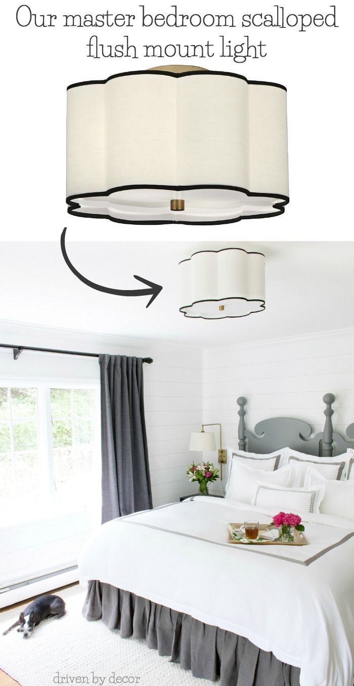 A Beautiful Flush Mount Ceiling Light Option For A Bedroom Post Includes A Link To It Pl Master Bedroom Lighting Bedroom Ceiling Light Bedroom Light Fixtures