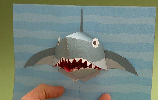 Годовщину, открытка акула своими руками