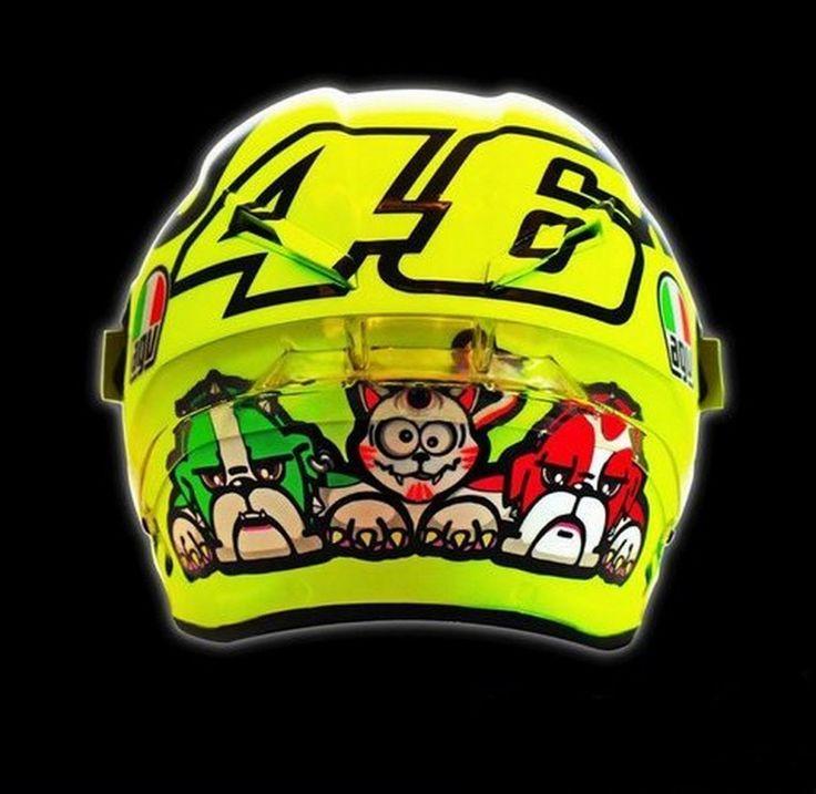 Casco AGV Pista GP Mugiallo Trasera