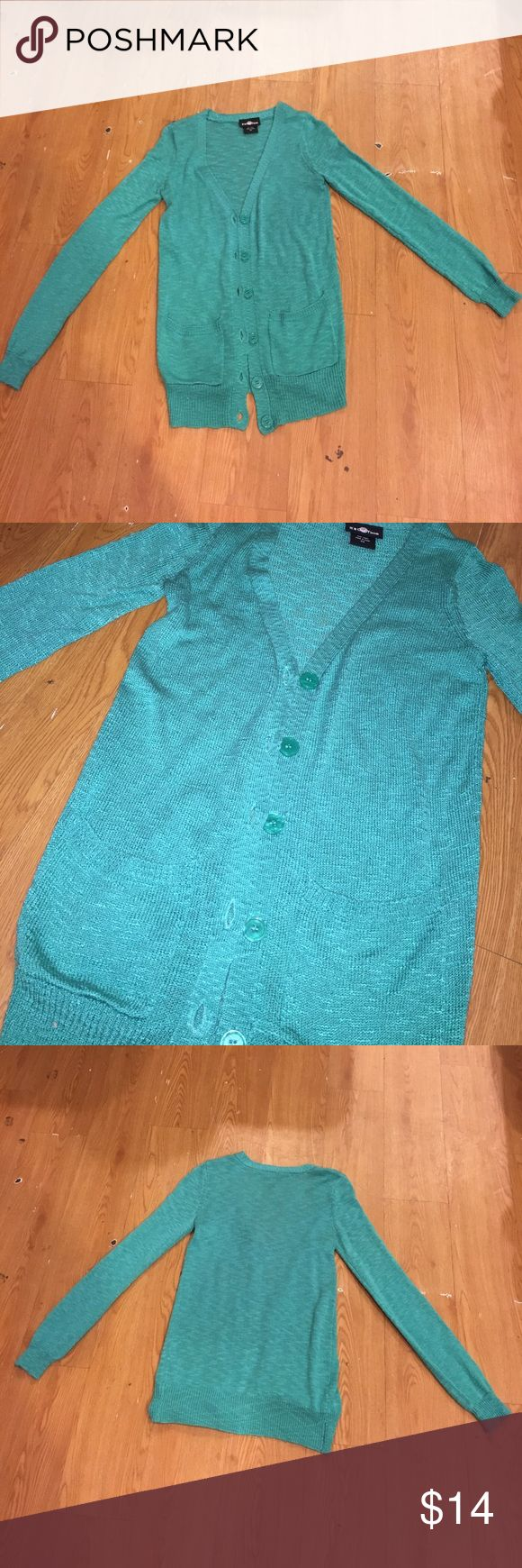 Teal Cardigan Teal Cardigan It's Our Time Sweaters Cardigans